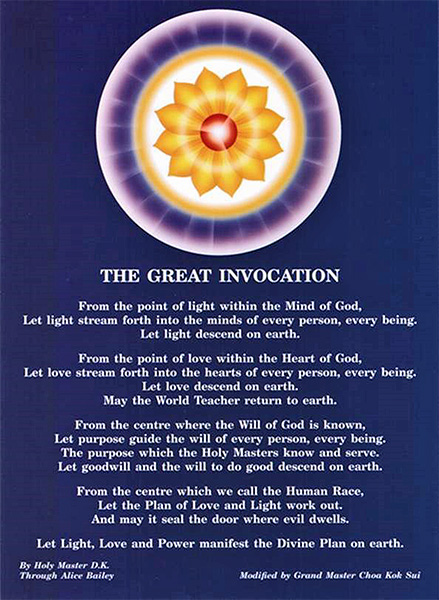 The Great Invocation by Master Choa Kok Sui